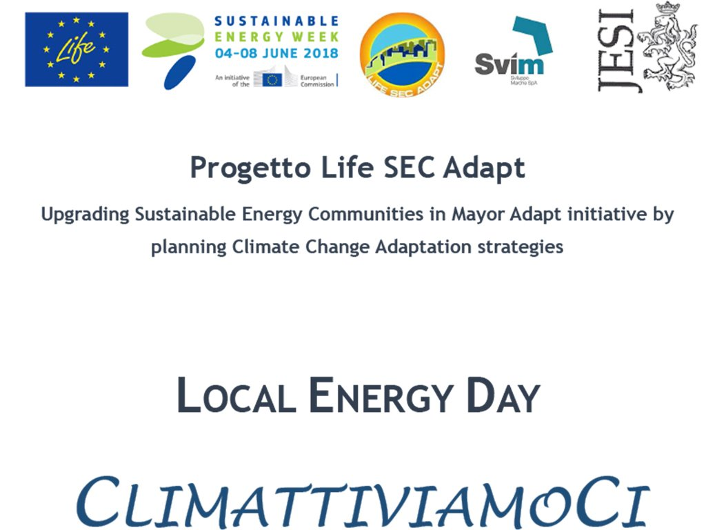 LOCAL ENERGY DAY. CLIMATTIVIAMOCI
