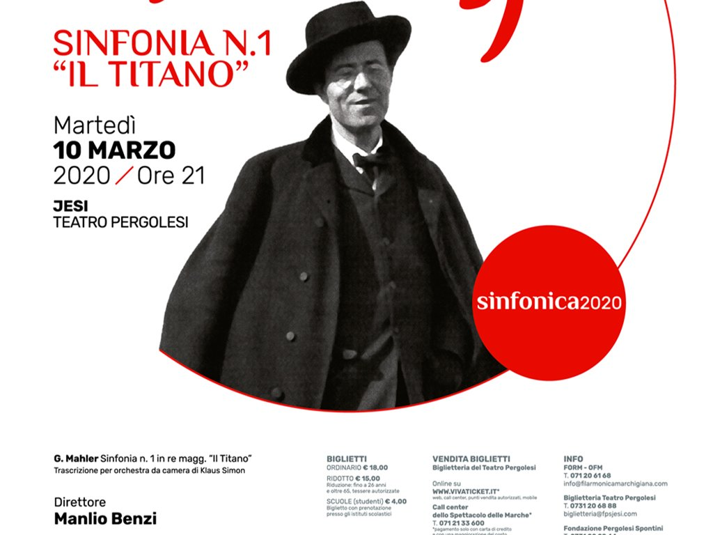 "PROGETTO MAHLER: SINFONIA N. 1 ""IL TITANO"" - Stagione Sinfonica FORM 2020"