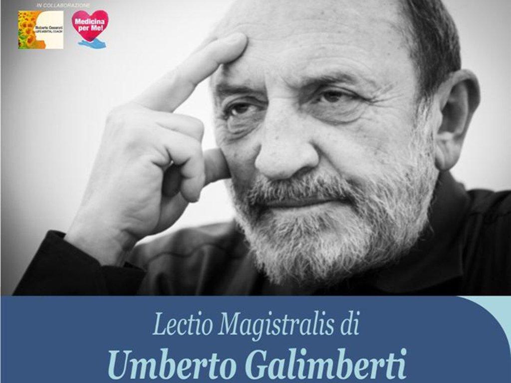 """UMBERTO GALIMBERTI LECTIO MAGISTRALIS: """"Il disagio giovanile nell'età del nichilismo"""""""